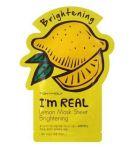 Подарок Тканевая маска с экстрактом лимона Tony Moly I'm Real Lemon Mask Sheet