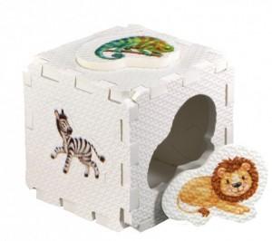 Кубик EVA - сортер. Дикие животные