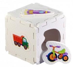 Кубик EVA - сортер. Для мальчиков