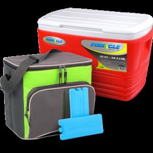 Изотермический контейнер Pinnacle Eskimo (34.5 л) + Изотермическая сумка Time Eco TE-1520 + Аккумулятор холода Ezetil Ice Akku 220 (комплект)