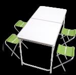 Набор мебели для кемпинга. Раскладной стол и 4 стула