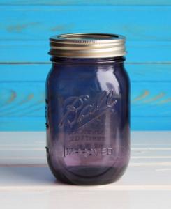 Подарок Банка Ball Mason Improved Фиолетовая 500 мл