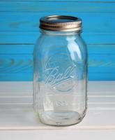 Подарок Банка Ball Mason Jar Прозрачная 1 л