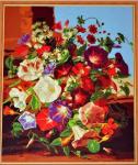 Подарок Картина на холсте по номерам 'Колокольчики'