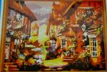 Подарок Картина на холсте по номерам 'Осенний город'