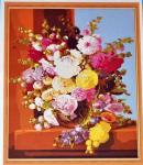 Подарок Картина на холсте по номерам 'Пионы'