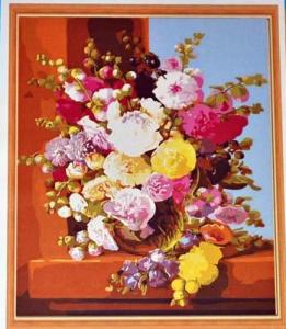 Подарок Картина на холсте по номерам Pasportu 'Пионы' (57-5412565)