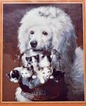 Подарок Картина на холсте по номерам 'Пудель'