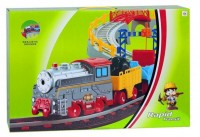 LiXin Железная дорога и автострада - набор с поездом и машинкой 74х88 см (9911)