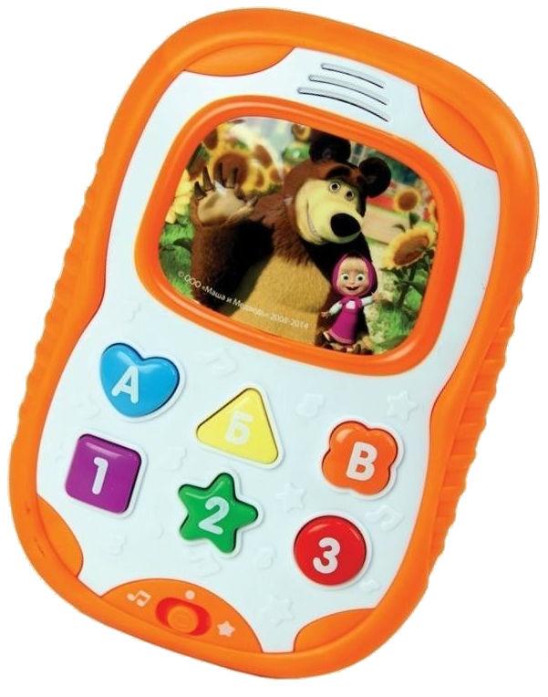 Телефон Маша и медведь. Бебифончик развивающий, украинский язык (MM-706-U)