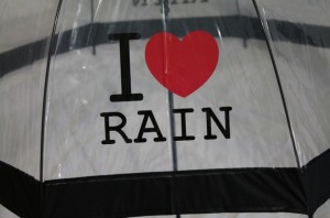 фото Зонт - трость 'I love rain' прозрачный #3