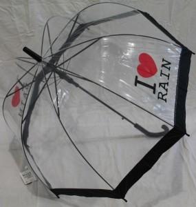фото Зонт - трость 'I love rain' прозрачный #5