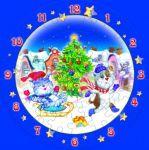 Сборная пазл-игрушка Часы 'Новогодние забавы'