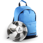 Комплект: Рюкзак Caribee Campus 22 Atomic Blue + Мяч футбольный 'Select Classic 3' черно-белый