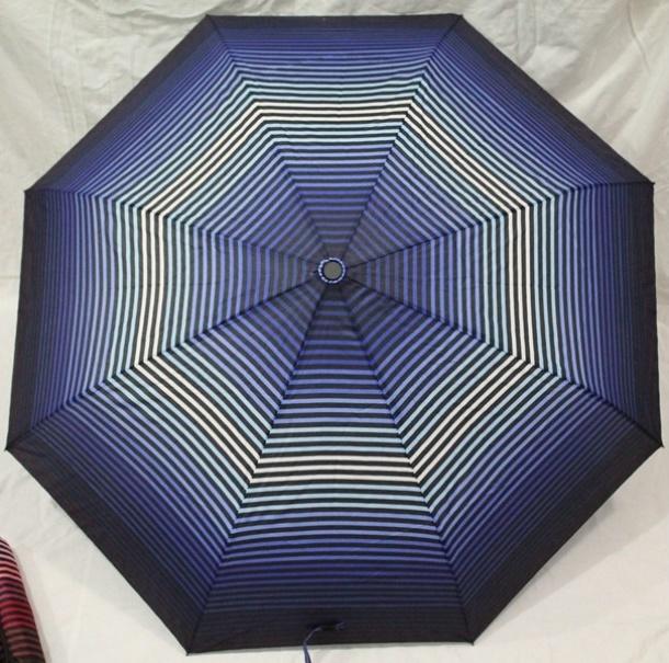 Купить Зонт-полуавтомат Paolo (синий в полоску)