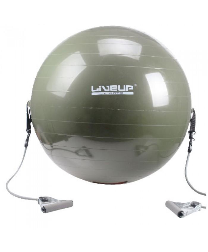 Купить Фитбол с эспандером LiveUp (LS3227)