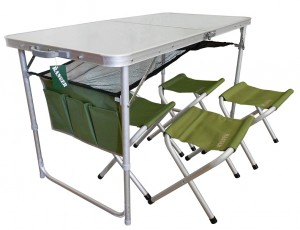 фото Раскладной стол и 4 стула Ranger (ТА-21407 и FS21124) #2