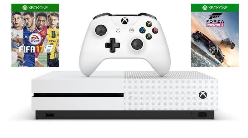 Xbox ONE S 500 GB +Игра FIFA 17 + Игра Forza Horizon 3 + 6 мес Xbox Gold Live