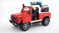 Игрушка Bruder Джип Пожарный Land Rover Defender + фигурка пожарного М1:16