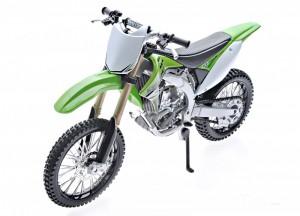 Модель мотоцикла Maisto 1:12 Kawasaki KX 450F Green