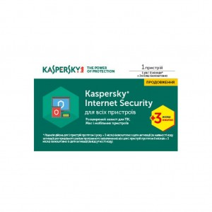 Программа Kaspersky Internet Security Multi-Device 2017 1 Device 1 year + 3 mon. Renewal Card (KL1941OOABR17)