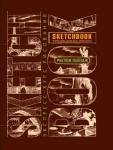 Книга Скетчбук 'Рисуем пейзаж' (коричневый)