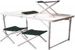 Раскладной стол и 4 стула Ranger (ТА-21407 и FS21124) (зеленые стулья)