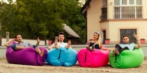 фото Надувной диван голубой (Lamzac) #8