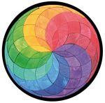 Цветная магнитная мозаика Спираль большая