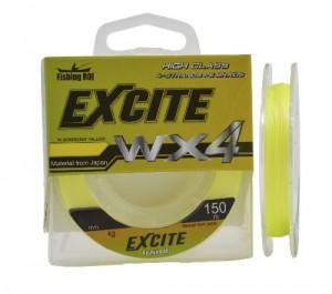 Шнур Fishing ROI Excite WX4 150m 0,23mm (fluorescent yellow)