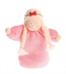 Кукла мягкая 'Девочка в розовом'