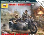 Немецкий мотоцикл БМВ Р-12 с коляской (3642)