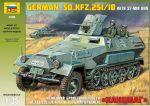 Немецкий бронетранспортер SDKFZ251/10 с 37-мм орудием 'Ханомаг' (3588)