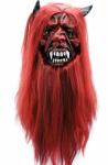 Подарок Маска латексная Дьявол с волосами