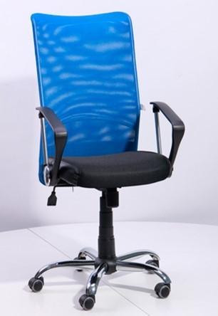 Купить Офисные кресла, Кресло 'Аэро HB' сиденье сетка черная, Неаполь N-20/спинка сетка синяя (023231), Art Metal Furniture