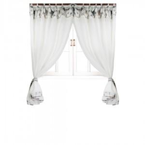 Комплект штор Прованс 'Flowers' батист с кантом и кружевом 170 х 145 см