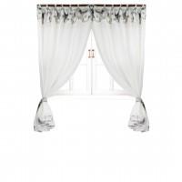 Комплект штор Прованс 'Flowers' батист с кантом и кружевом 250 х 145 см