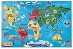 Напольный пазл 'Карта Мира' (MD446)
