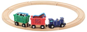 Деревянная железная дорога Melissa & Doug 'Поезд с животными' (MD644)