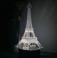 Подарок Светильник 3D 'Эйфелева башня'