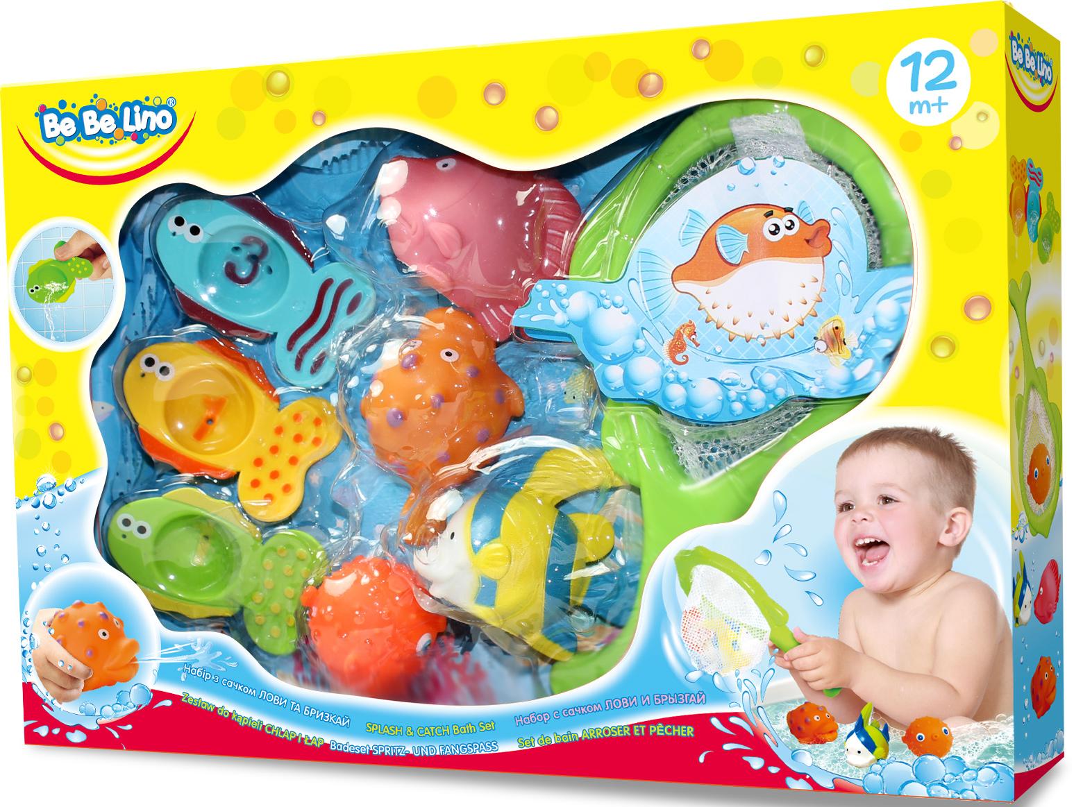 Купить Набор для ванной с сачком 'Лови и Брызгай' BeBeLino (57113)