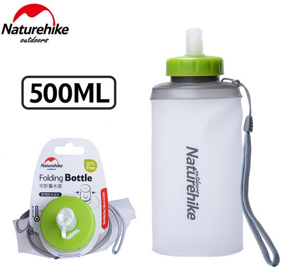 Купить Фляга складная с поилкой NatureHike 'Sport bottle' 0, 5л white (NH61A065-B)