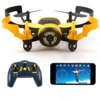 Квадрокоптер JXD 512W 90мм WiFi камера (желтый) (45096)
