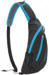 Сумка-рюкзак нагрудная NatureHike, black&blue (NH23X008-K)