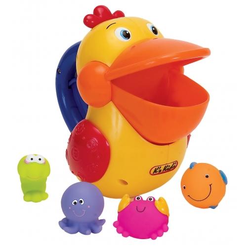 Купить Игрушка для купания K's Kids 'Голодный пеликан с игрушками' (10422), K'S KIDS
