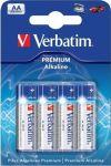 Батарейка Verbatim Alkaline AA, 4 шт (49921)