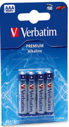 Батарейка Verbatim Alkaline AAA, 4 шт (49920)