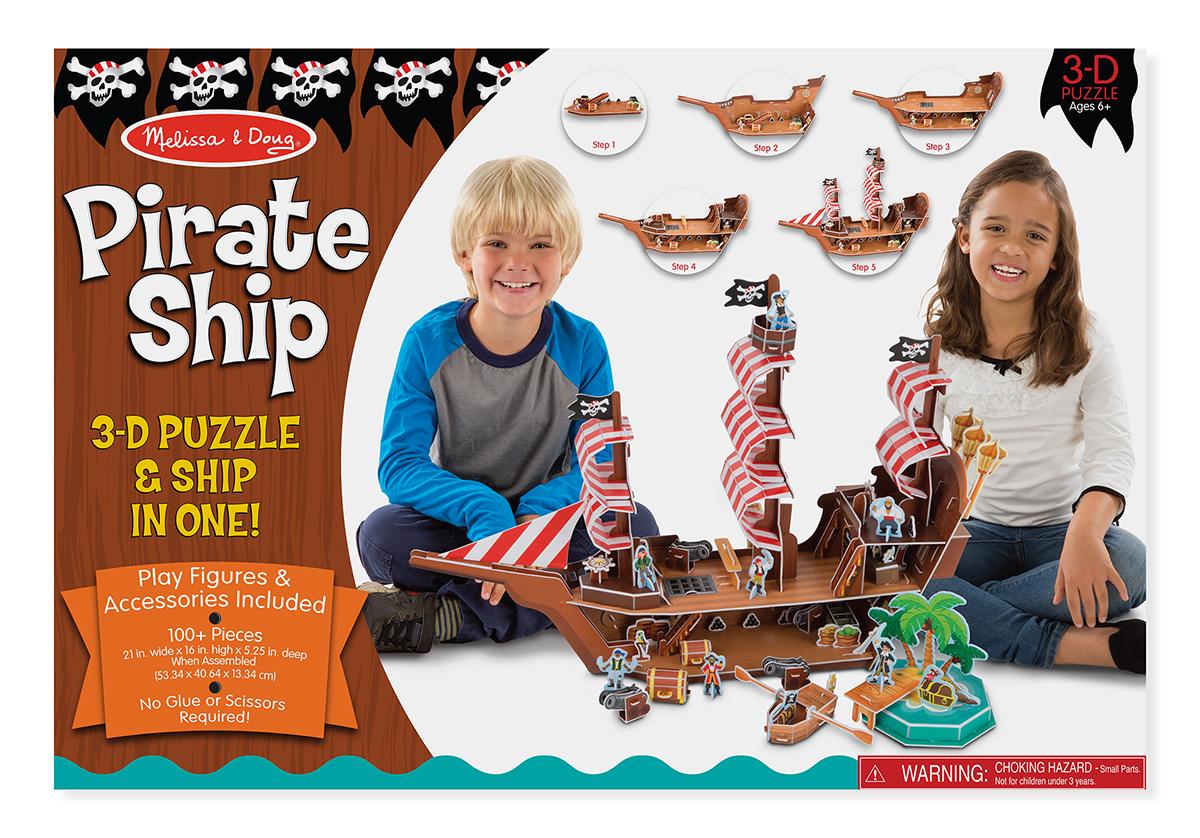 Купить 3D-пазл Melissa & Doug 'Пиратский корабль' (MD9045)