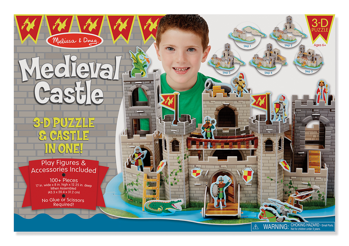 Купить 3D-пазл Melissa & Doug 'Средневековый замок' (MD9046)