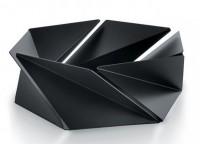 Подарок Фруктовница (ваза для фруктов) Alessi 'Kaleidos' черная (NS02 B)